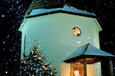 Silent Night Chapel at Night