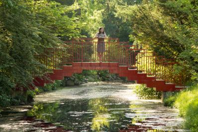 Dow Gardens Red Bridge