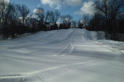 Groomed sled hill from Marcie Post