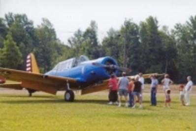 Plane at the Chesaning Airport