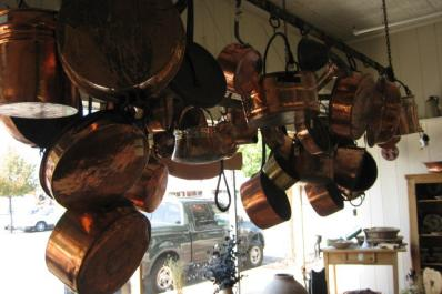 Copper Pots at Bay City Antiques Center