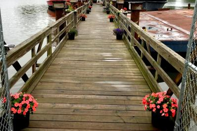 Wedding - Flowers on Dock