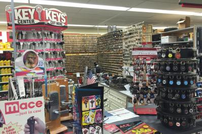 Largest selection of key blanks in Midland!