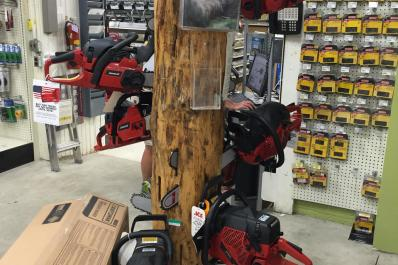 Jonsered chainsaws, and outdoor equipment.
