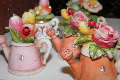 Tea pots - garden decoration