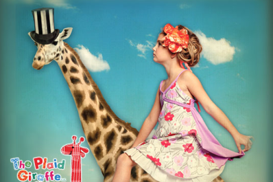Girl on giraffe
