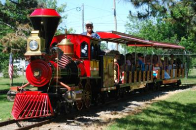 Have a seat on our train and take a tour around the zoo!