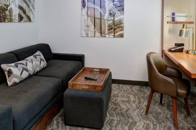 SpringHill Suites | Trundle Couch & Desk Area