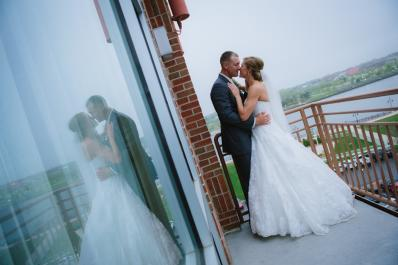 A kiss on the balcony