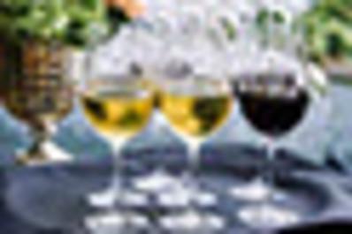 Wine logo glasses