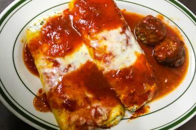 Calabria Pizza & Restaurant Manicotti