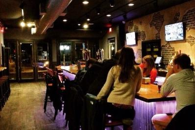 The Nyx bar area