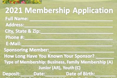 Wallkill Golf Club Membership Application