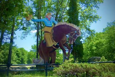 Rearing Horse Entrance