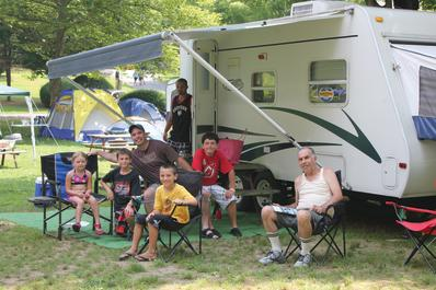 Delaware River Campground Pop Up Campers