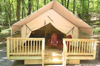 Delaware River Campground Luxury Tent
