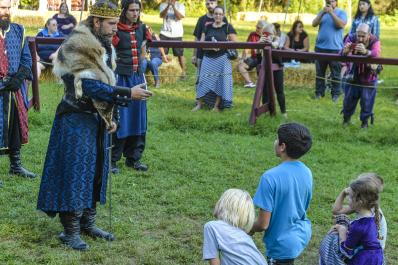 Sparta NJ Renfaire Knighting Youths