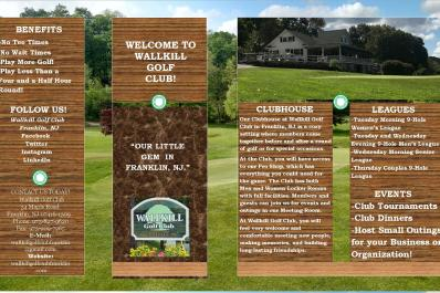 Wallkill Golf Club Brochure Page 1