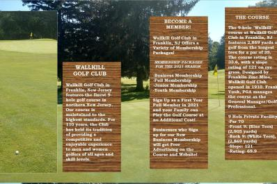 Wallkill Golf Club Brochure Page 2