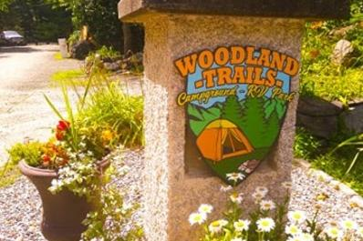 Woodland Trails Welcome Sign