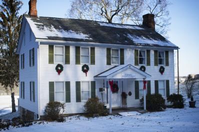 Van Kirk Homestead Museum in Snow