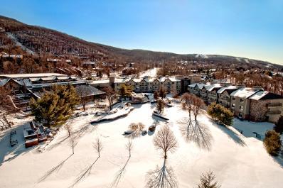 Minerals Hotel Winter Aerial