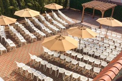 Perona Farms Outdoor Wedding Setup
