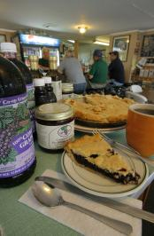 Grape pies and grape juice are just a few of the regional flavors offered at Jack's Barcelona Drive-in in Jamestown.