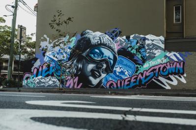Alex Lehours Queenstown Mural in Surry Hills