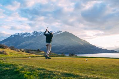 Playing Golf at Jack's Point during Spring