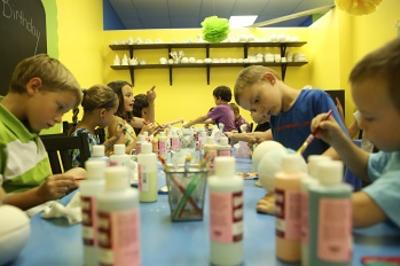uPaint Pottery Studio is fun for all ages!