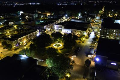 Bentonville from the sky 1