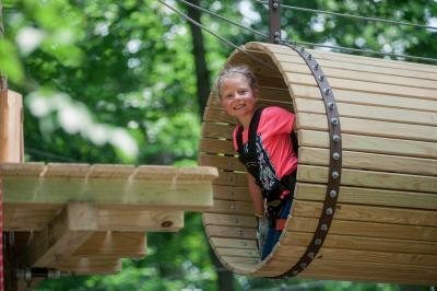 Girl playing at Zip Zone Adventure Park