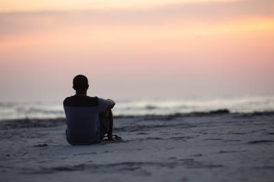 beach meditation