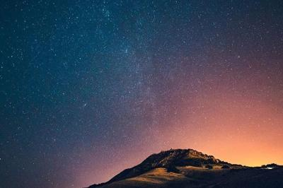 Stars over mountain