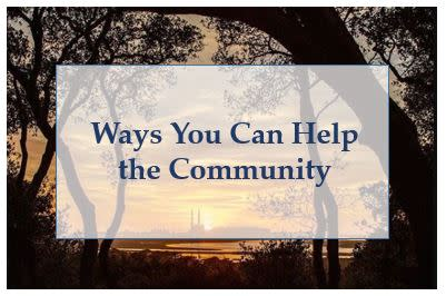 Ways You Can Help The Community