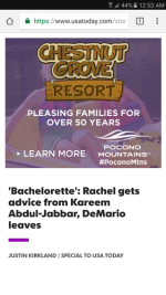 2017 Summer Marketing Campaign - Online - USAToday.com - Chestnut Grove Resort