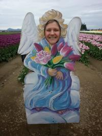 Skagit Valley Tulip Festival visitor photo opp