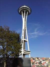 An Unforgettable Stay in the Puget Sound, upward view of The Space Needle