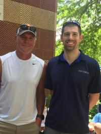 Brant with Brett Favre