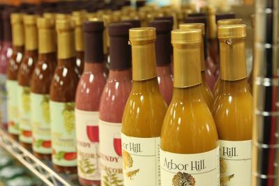 Bottles sit inside of Arbor Hill in Naples