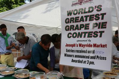 People enjoying the Naples grape pie festival