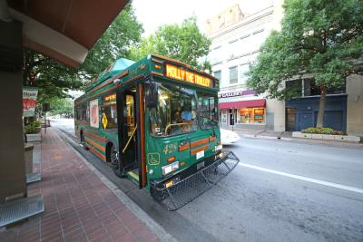 Downtown Molly the Trolley Houston Street