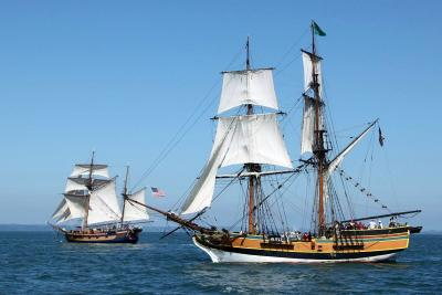 Lady Washington and Hawaiian Chieftain historic ships