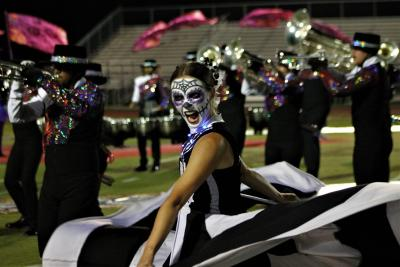 Costumed dancer for DCA Drum Corps Associates