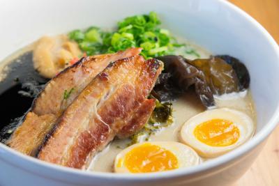 Tonkotsu soup from Oni Ramen