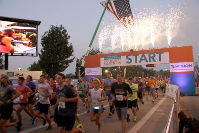 Columbus Marathon Starting Line