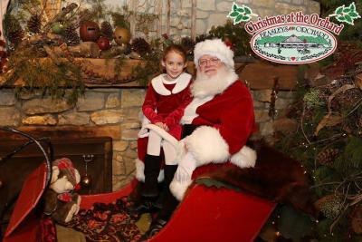 Beasley Christmas at Orchard with Santa