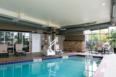 Cambria Suites, Indianapolis Airport Suites, indoor pool, handicap accessible pool