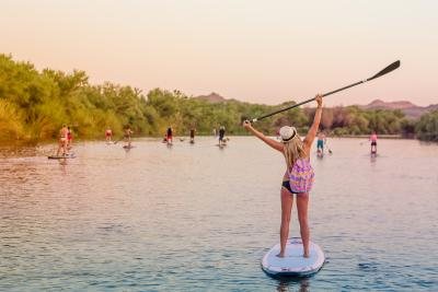 Sarah Robertson Stand Up Paddle SUP woman Salt River Water Recreation